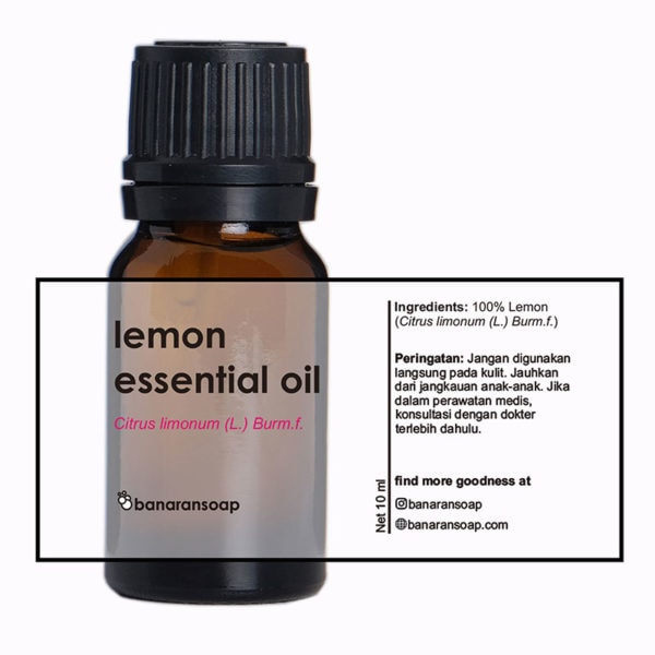 kemasan lemon essential oil 10ml