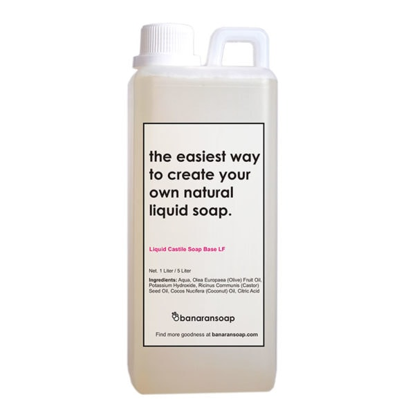 kemasan liquid castile soap base low foam 1 liter