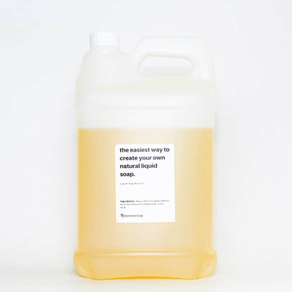 liquid castile soap base low foam 5 liter