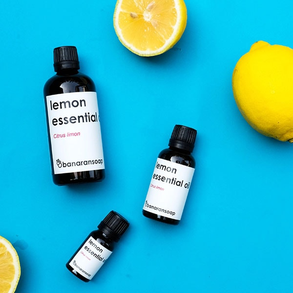 lemon essential oil display